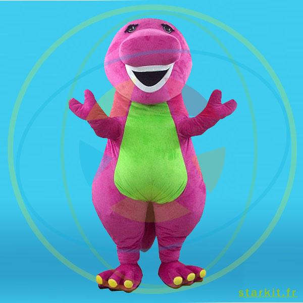 Mascotte costume peluche dinosaure BARNEY géant