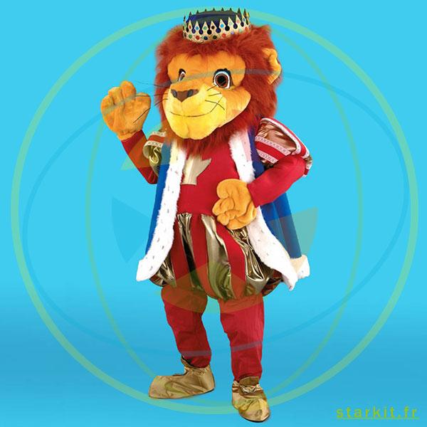 Mascotte costume LION géant