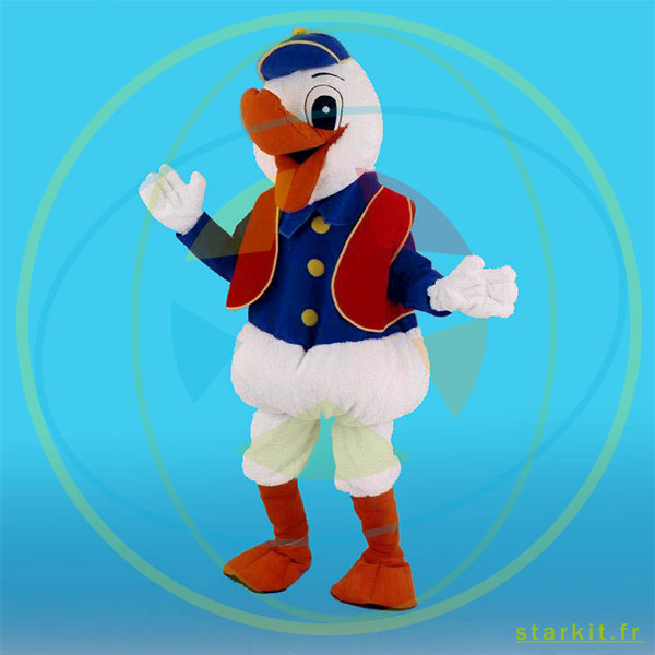 Mascotte costume CANARD DONALD géant