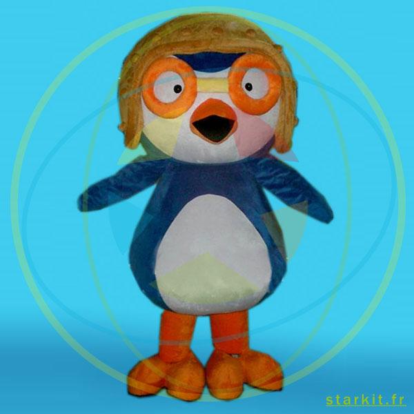 Mascotte costume pinguin géant