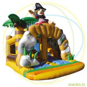 Île gonflable aux pirates
