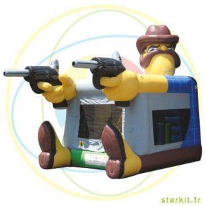 shérif-gonflable-western toboggan