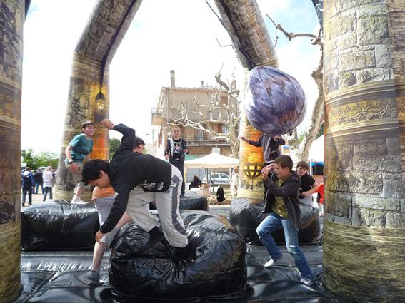 structure gonflable la boule Marseille aubagne