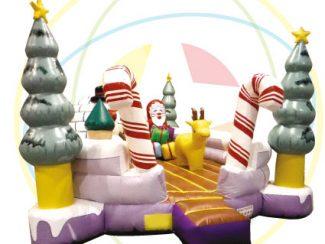 Location château gonflable, thème Hiver / Noël