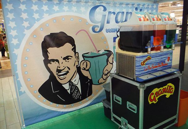 Location mise en place stand machine glace granita marseille aix aubagne paca