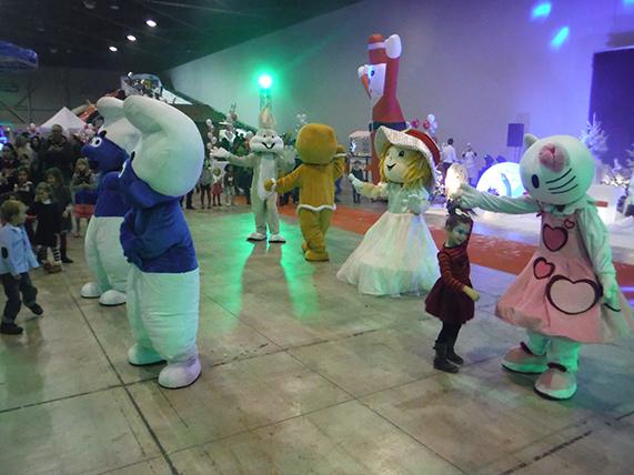 Animation danse Peluche mascotte arbre de noël marseille aix aubagne bouches du rhone paca
