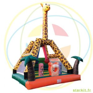 Location structure gonflable girafe